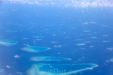 вид на острова из самолёта