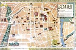 Карта Римини с достопримечательностями