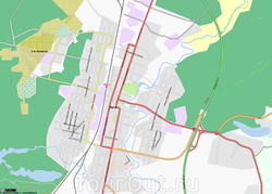Карта Луги