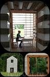 Удаленный офис. Размещенный на границе с лесом, этот офис имеет два возможных вида: один — на широкое поле, другой — в тенистый лес. Форма окон намеренно ...