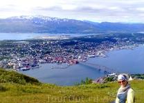 Город Тромсё. Вид с горы