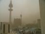 Начинается пыльная буря или песчаная буря.