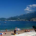 Пляж около Св. Стефана