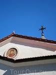 в синем небе крест....