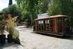 Вагон тбилисской конки, превращенный в кафе.