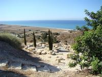 Вид на море, открывающийся со стороны виллы Эвстолия, древние рабовладельцы умели выбирать места. Всю эту территорию  когда-то занимал античный город Китион ...