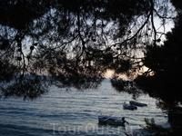 Закат, пляж Брелы