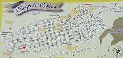 Карта Старого Крыма с улицами