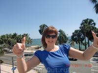 На терраса отеля с видом на Карибское море