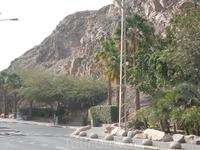 Дорога к блокпосту на границе с Египтом