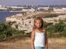 Вид на Херсонес и город за Карантинной бухтой - с высокого холма, со стороны Солнечного пляжа.