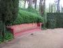 Милая скамеечка...  Вообще Сады Святой Клотильды похожи на очень ухоженный парк, какие можно встретить в разных городах.