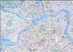 Карта Санкт-Петербурга с вокзалами