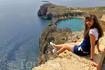 сижу над пропастью, любуюсь прекрасным видом на море и на бухту Св. Павла