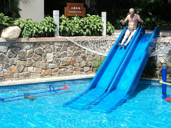 Горка в бассейн