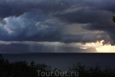 Читта дель маре, дождь на заливе