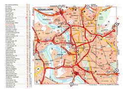 Карта дорог Дюссельдорфа