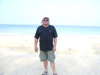 На пляже Карон утром