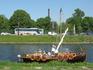 А это корабль... он, конечно не такой большой, как настоящий корабль викингов, но все же.