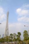 Район Zhujiang New Town  Телебашня