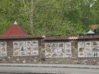 Белград, так оформлена стена зоопарка.