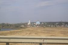 Вид на Задонский монастырь по трассе М-4