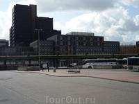 Автовокзал в Ганновере весьма скромен