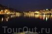 Вид на ночной Берген с моря, губерния Хордаланд. Foto: Gaby Bohle/Innovation Norway