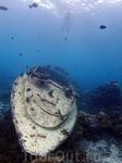 Затонувший корабль в Баросе (baros maldives)