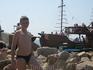 Вот на этом кораблике катались на 2 часа позагарать и покупаться на необитаемый остров Дзенздык. Проезд туда-обратно - 50 грн, дети до 10 лет - бесплатьно ...