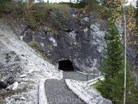 проход через скалу