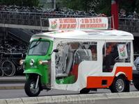 Амстердам. Экскурсионный мотороллер.
