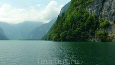 На катере по озеру Кёнигсзее