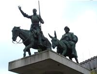 Брюссельский памятник Дону Кихоту и Санчо Пансо