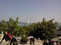 Вид на статую богини Гуаньинь