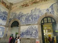 Изразцы вокзала Сан-Бенту.