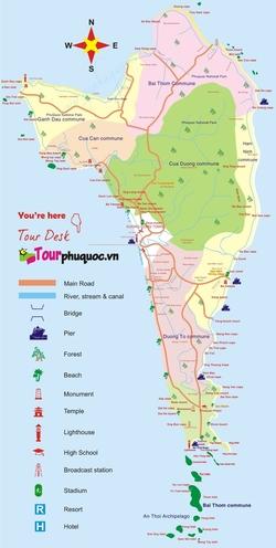 Карта Фукуока с достопримечательностями