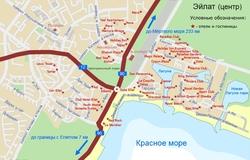 Карта Эйлата на русском