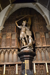 Мон-Сен-Мишель изображение архангела сделано из серебра
