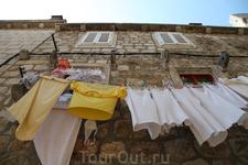 А это белье Дубровника - визитная карточка города.