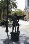 Живые статуи на La Rambla