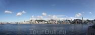 Дневная панорама Гонконга с видом на Central....