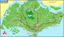 Карта Сингапура с достопримечательностями