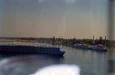 Вид на реку Нил с набережной в Луксоре