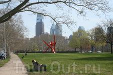 Вид на даунтаун Филадельфии. Подробнее про поездку в Филадельфию здесь  http://american-days.blogspot.com/2011/04/blog-post.html