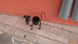 Кашпо на улице Алькудии