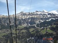Долина Лаутербруннен и Швейцарские Альпы.