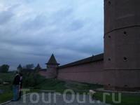 Та самая смотровая площадка у стен Кремля.