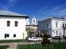 Улицы Пскова с видом на собор.