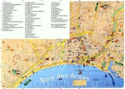 Карта Ниццы с отелями